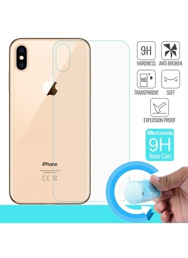 Microsonic iPhone XS Max (6.5'') Arka Nano Cam Ekran Koruyucu Renksiz